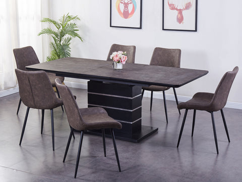 Imperial  - Dining Set (Dark Grey)