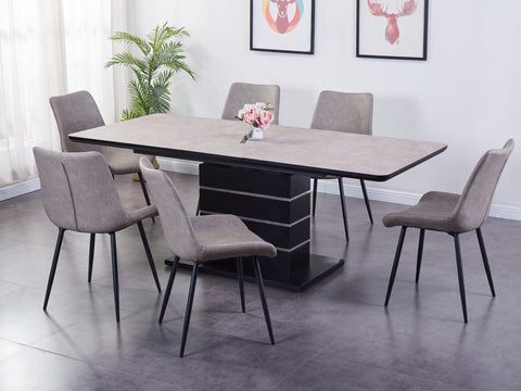 Imperial  - Dining Set (Light Grey)