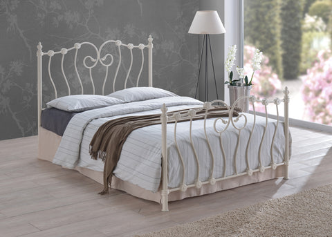 Inova - Metal Bed Frame (Ivory/Black)