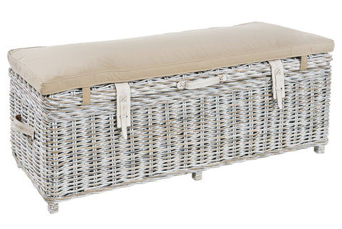 Miya - Storage Bench (White)