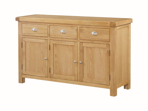 Rustic Oak - 3 Door Sideboard