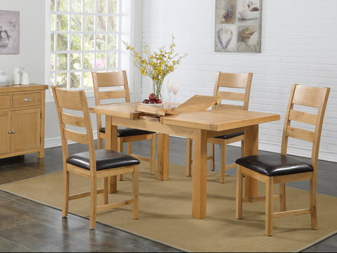 Rustic Oak - 4x3 Dining Set