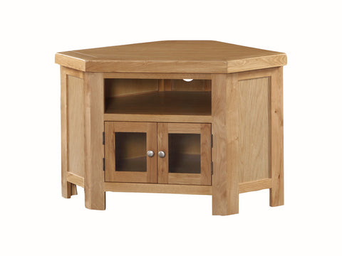 Rustic Oak -  Corner TV Unit