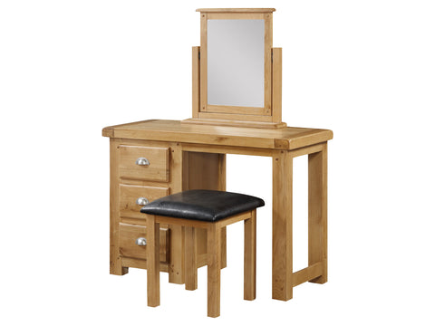 Rustic Oak - Dressing Table & Stool