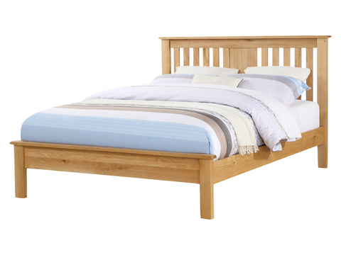 Rustic Oak - Low End Bed Frame