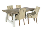 White Driftwood - 140cm Extending Table