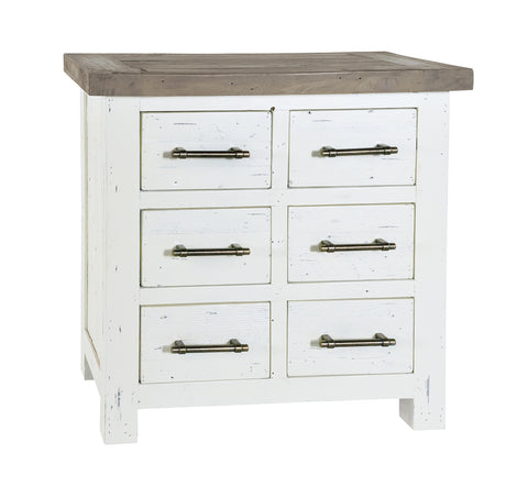 White Driftwood - 6 Draw Chest