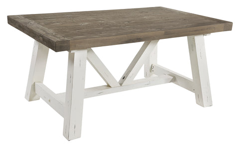 White Driftwood - 160cm Extending Table