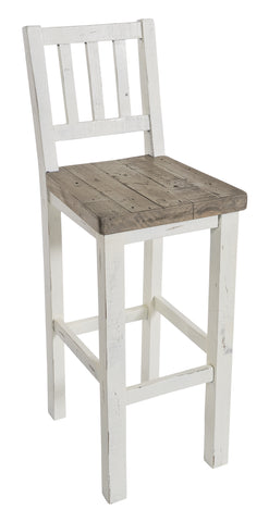 White Driftwood - Bar Stool