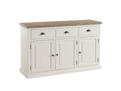 Painted Pine /Ash - 3 Door Sideboard