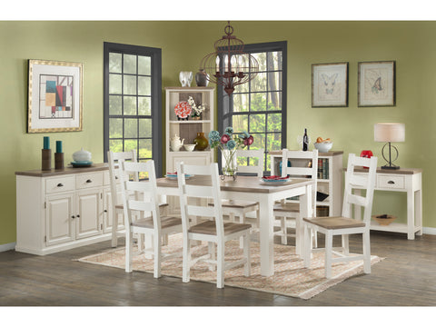 Painted Pine /Ash - 6ft Dining Table & Chairs