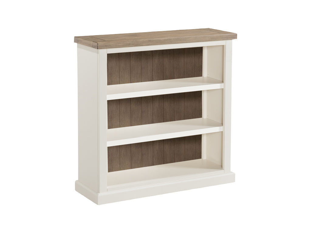 Painted Pine Ash Low Bookcase