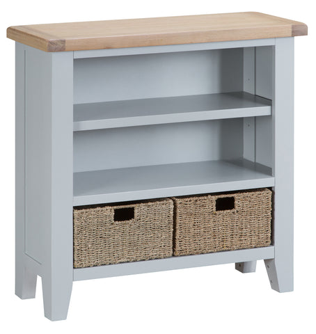 Tuscany Grey - Small Wide Bookcase