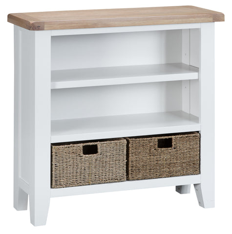 Tuscany White - Small Wide Bookcase