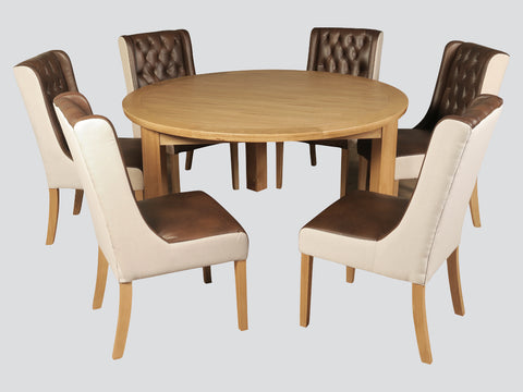 Treviso - 150cm Round Table & Oliva Chairs