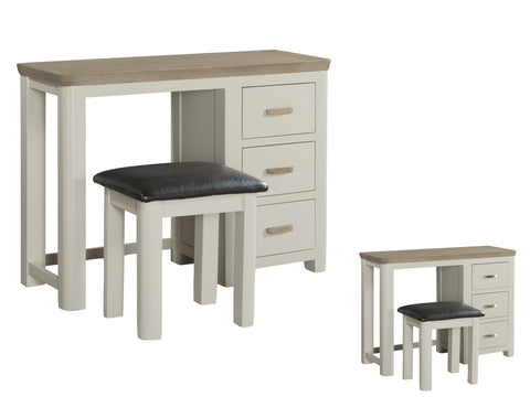 Honey Oak and Painted - Dressing Table & Stool