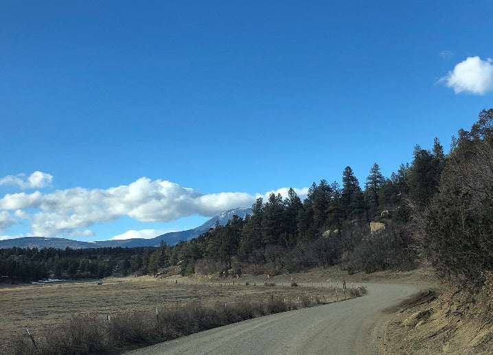 gravel road and sky