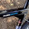 Pure Gravel Sticker on bike