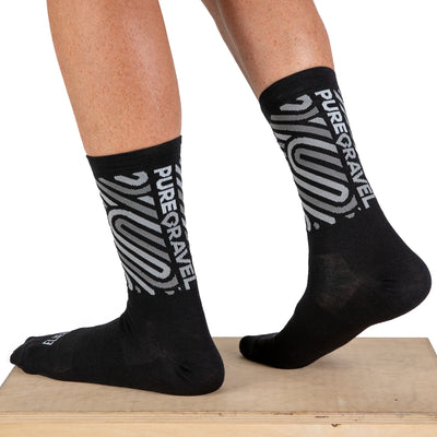 Pure Gravel Wool Socks