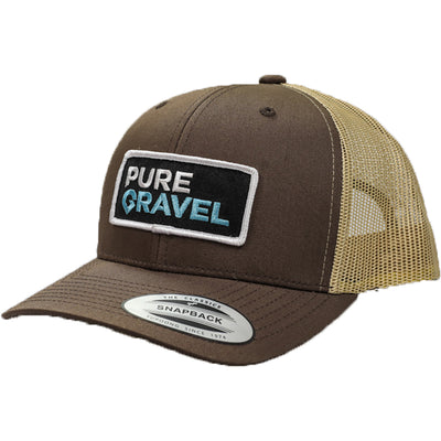 Pure Gravel patch hat: brown