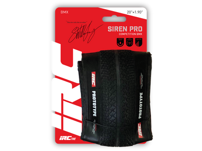 IRC Siren Pro tire on package
