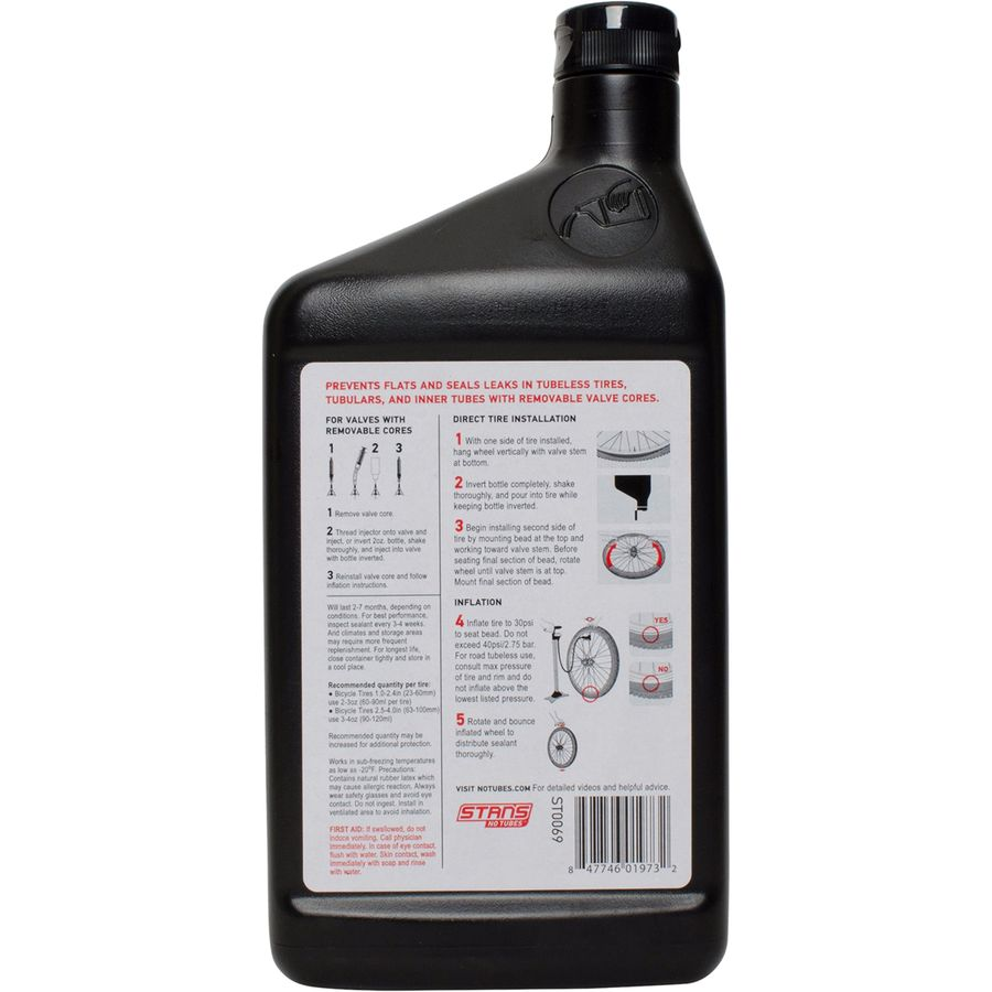 Stans No Tubes Tire Sealant (32oz Quart) front of bottle