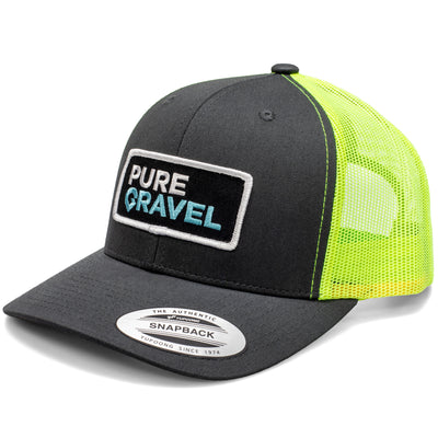 Pure Gravel patch hat: tennis ball green