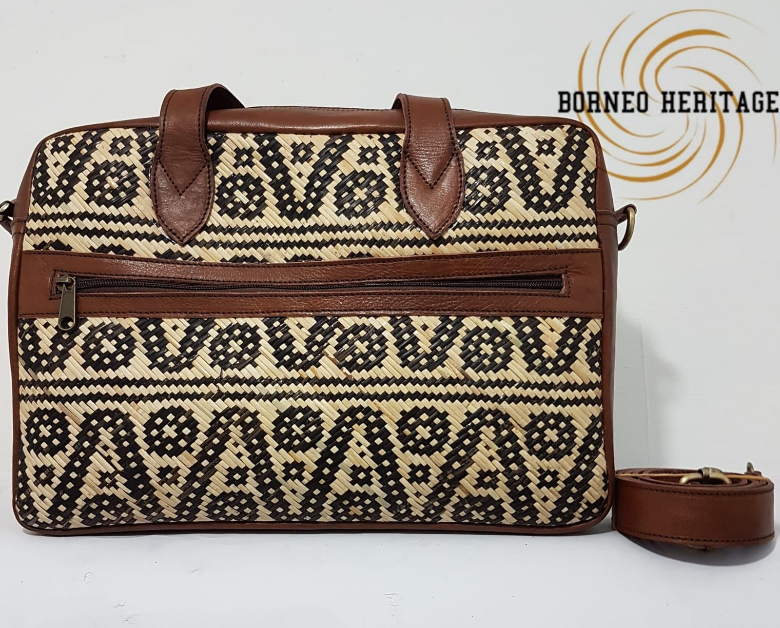Rattan Laptop Bag