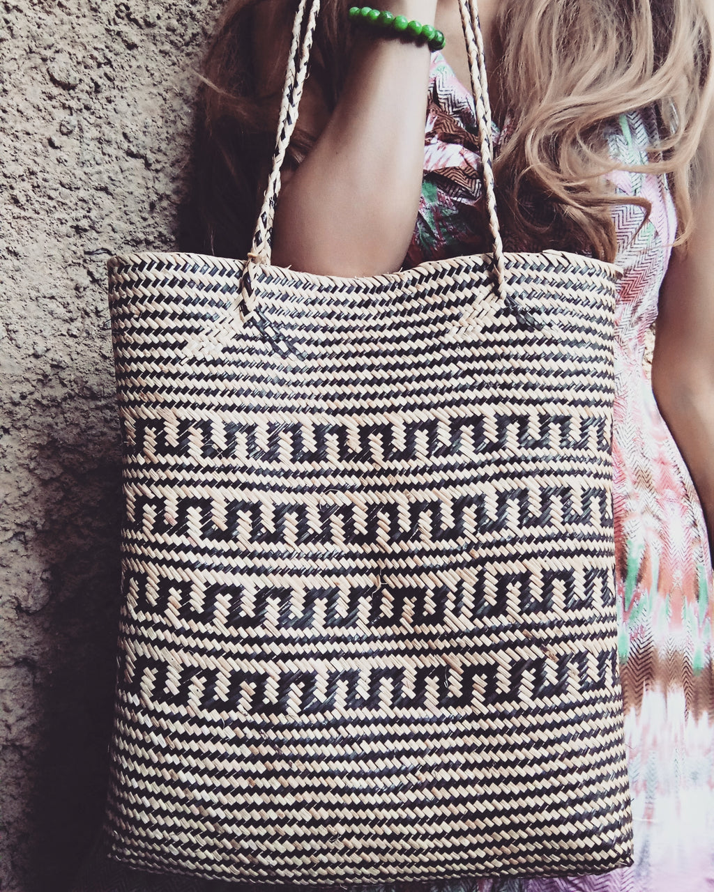 Rattan Tribal Tote Bag
