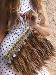 Bohemian Feather Clutch
