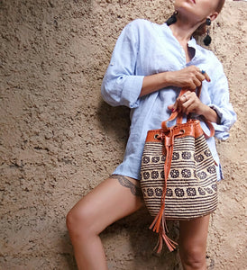 Rattan Backpack Tribal