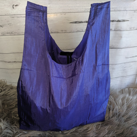 Purple Ecosilk Shopping Bag