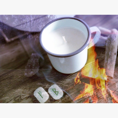 Winter Campfire Scented Candle in Enamel Mug