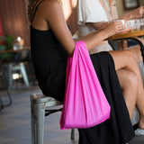 Hot Pink Ecosilk Shopping Bag