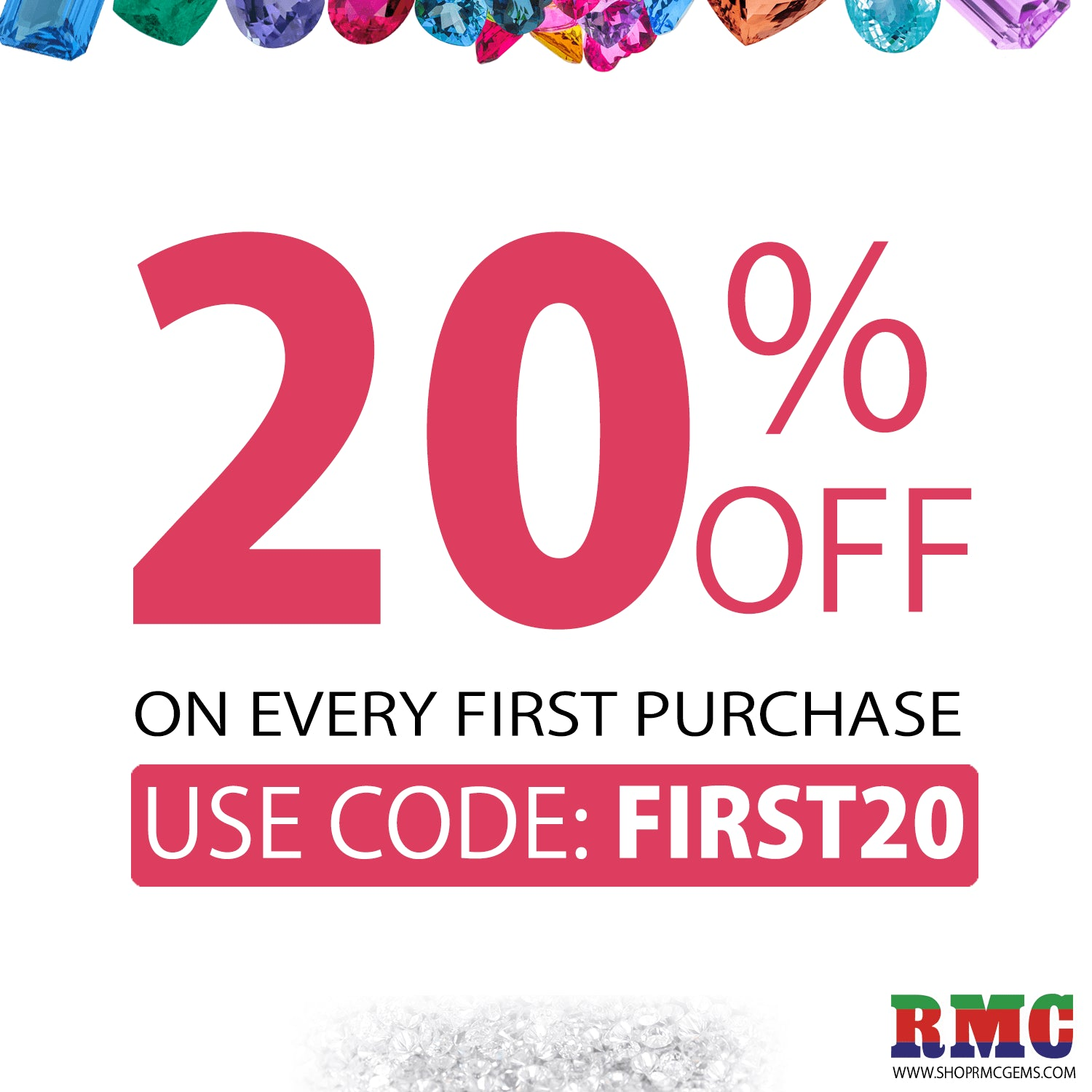 20% OFF On Every First Purchase
