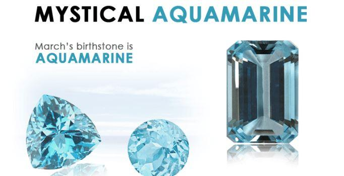 Aquamarine is the birthstone for March