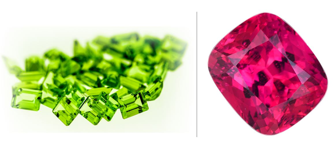 AUGUST BIRTHSTONE : PERIDOT & SPINEL