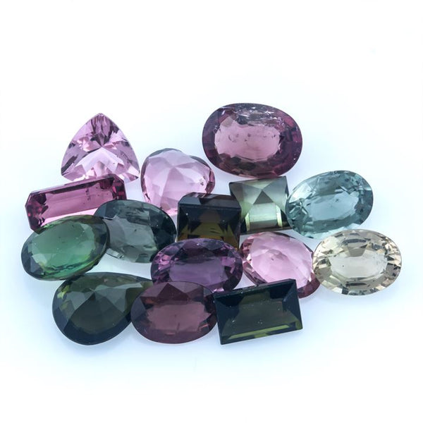 12.40 ct Multi Tourmaline Mix Lot+ Free Shipping - shoprmcgems