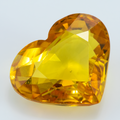 Yellow Sapphire 8.84 ct 14X11.50 mm Heart - shoprmcgems