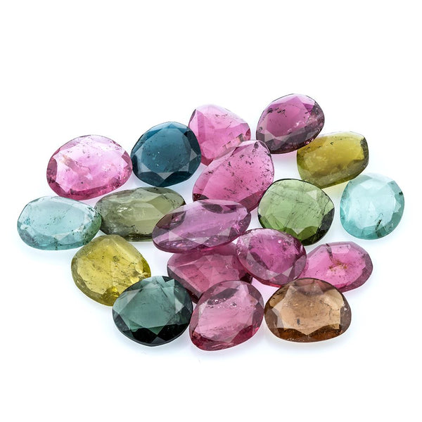 28.19 CT Multi Tourmaline  Free-form (Polki Cut) - shoprmcgems