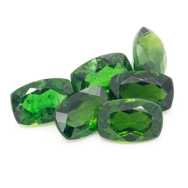 3.19 CT Chrome Diopside Cushion Shape 6x4 MM - shoprmcgems