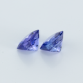 1.74 ct Matching Pair Cushion Natural Tanzanite 5.5 MM