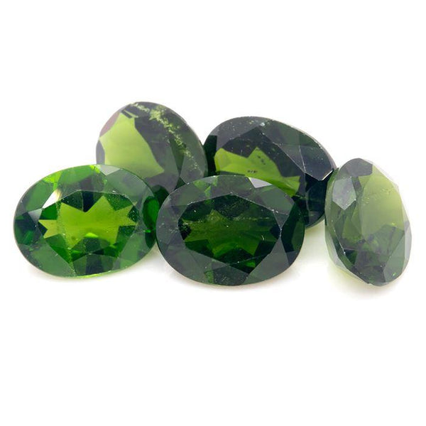 6.36 CT Chrome Diopside Oval Shape 8x6 MM - shoprmcgems