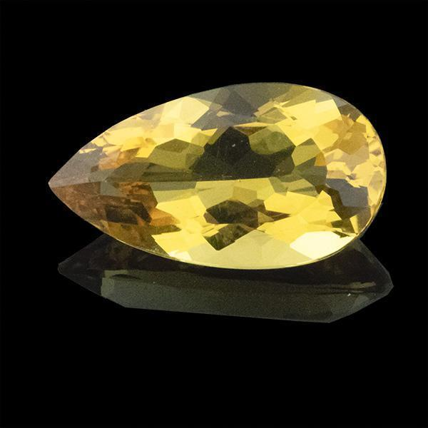 8.02 CT Amazing Pear Cut 19.50X10.70 MM Natural Yellow Bery - shoprmcgems