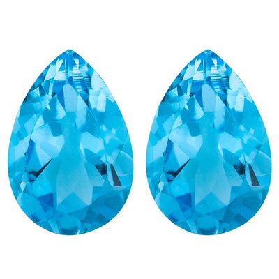 9x6MM Lot 2 PCS PEAR Swiss Blue Topaz 2.90 CT - Stock Unlimited - shoprmcgems
