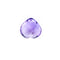 10.54 Ct Amethyst 14 MM Heart Cut Briolite Buff Top - shoprmcgems