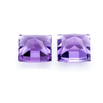 Natural Amethyst 3.25 Ct 7 MM Square Fancy Checkerboard - shoprmcgems
