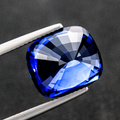 Sparkling Royal Blue Natural Sapphire 10.8 ct Cushion Heated - Srilanka 13.01x11.46x8.25 mm - shoprmcgems