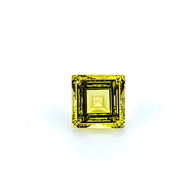 Lemon Quartz 4.23 CT 10 MM Square Fancy Cut - shoprmcgems