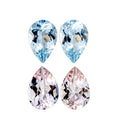 Beautiful Matching Earring Set of Morganite & Aquamarine - shoprmcgems